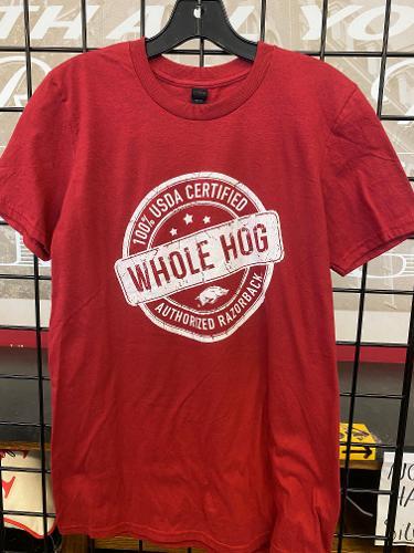 Arkansas Razorbacks Whole Hog Short Sleeve Tee