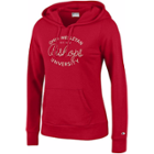 Image for the Red Women's Hooded Sweatshirt, Front Pocket product