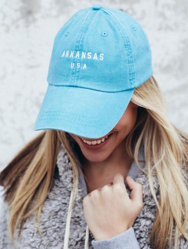 Arkansas USA State Hat- Teal