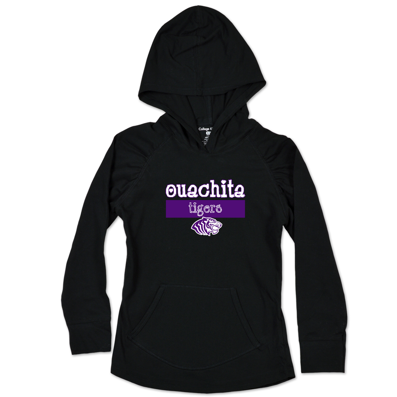 OUACHITA TIGERS YOUTH HOODED PULLOVER