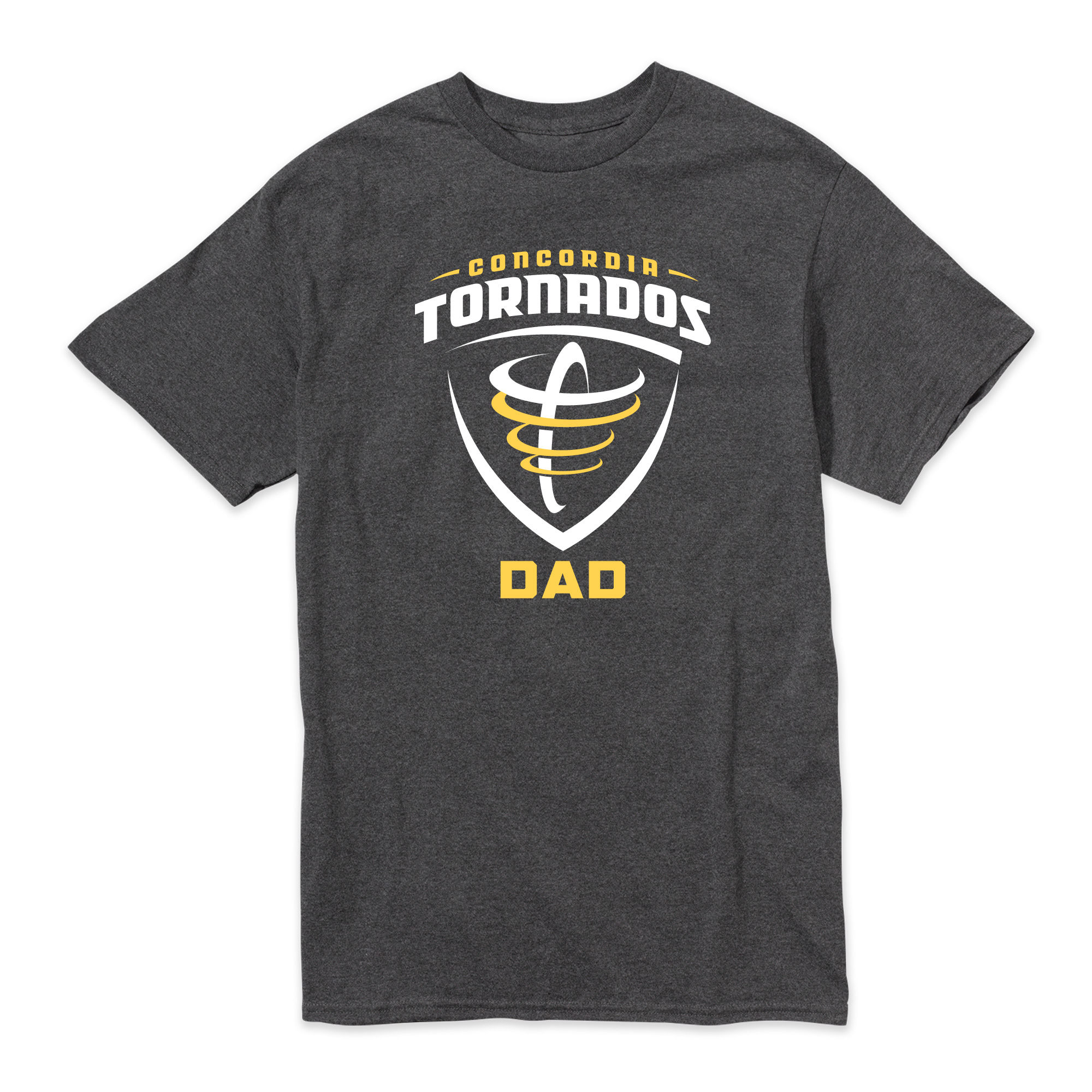Concordia Torados Dad Tee - Charcoal Heather