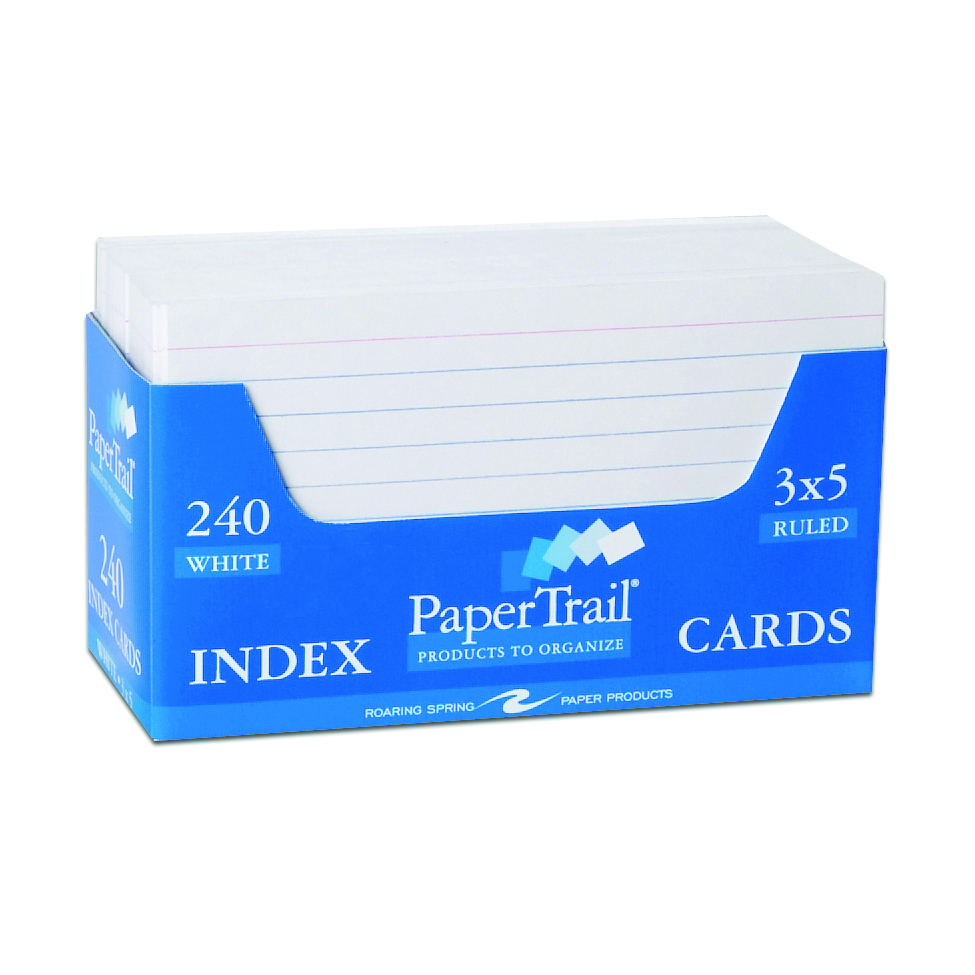 PaperTrail 240ct 3x5 Ruled Index Cards