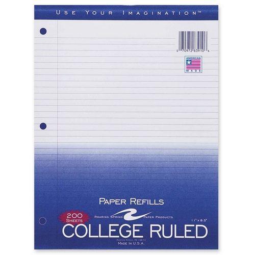 Filler Paper College Ruled 200 Sheet