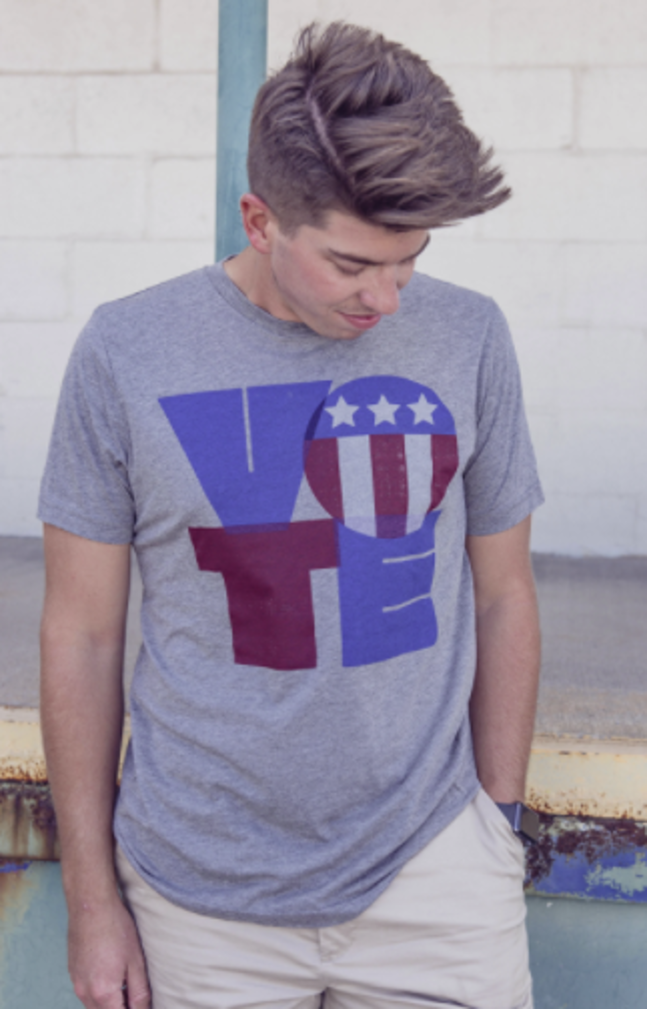 image of: Vote Red or Blue SS Tee - Grey Triblend