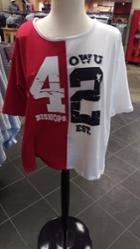 Image for the Red & White Knit Split Jersey product