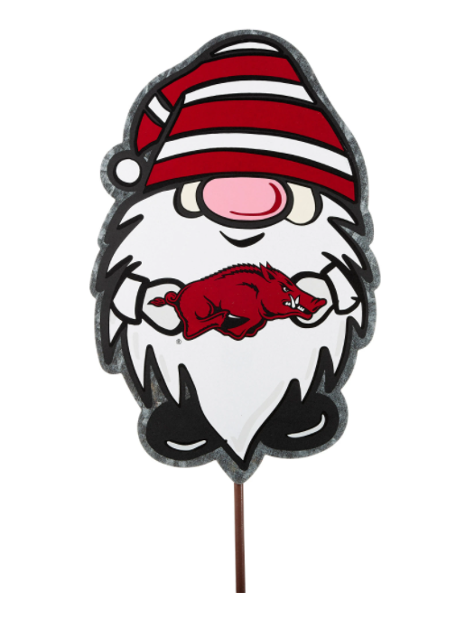 Image for Arkansas Razorbacks Glory Haus Gnome Garden Stake