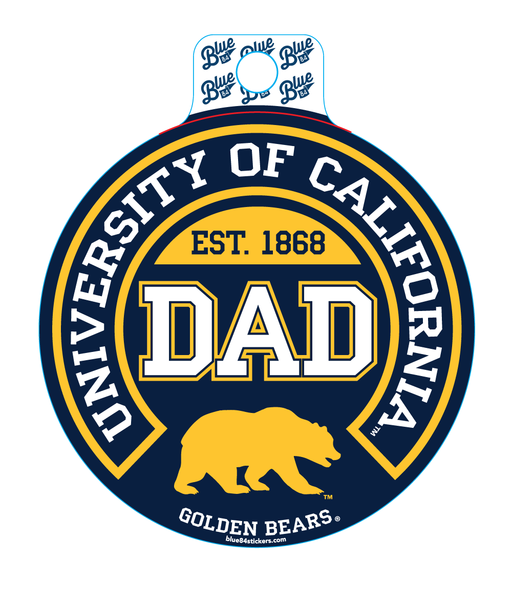 UC Golden Bear Dad Sticker