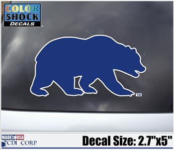 Color Shock Decal Walking Bear