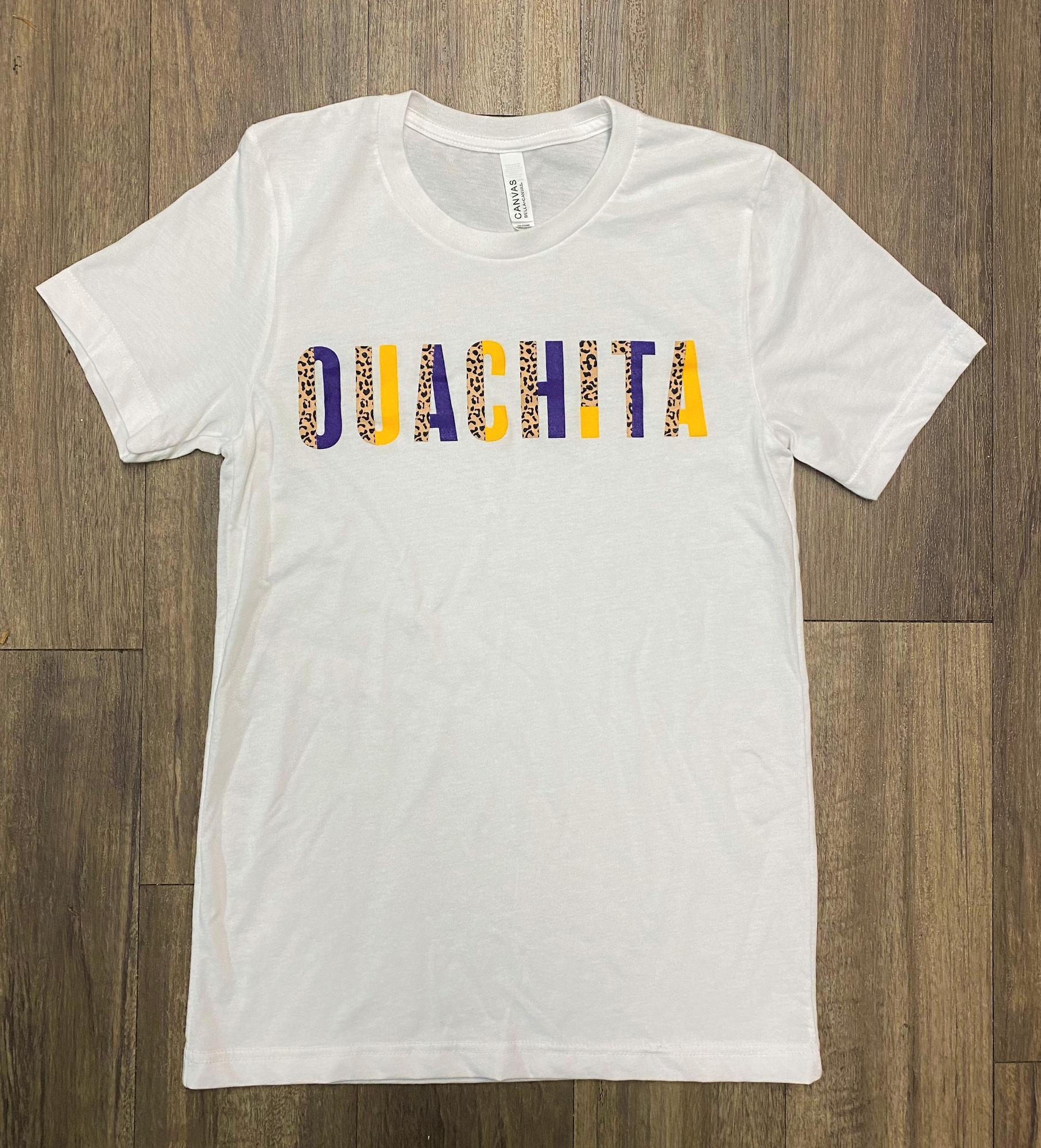 image of: OUACHITA CHEETAH BLOCK SHORT SLEEVE T-SHIRT