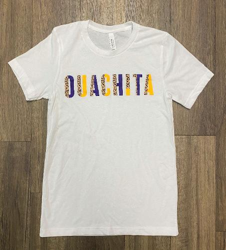 OUACHITA CHEETAH BLOCK SHORT SLEEVE T-SHIRT
