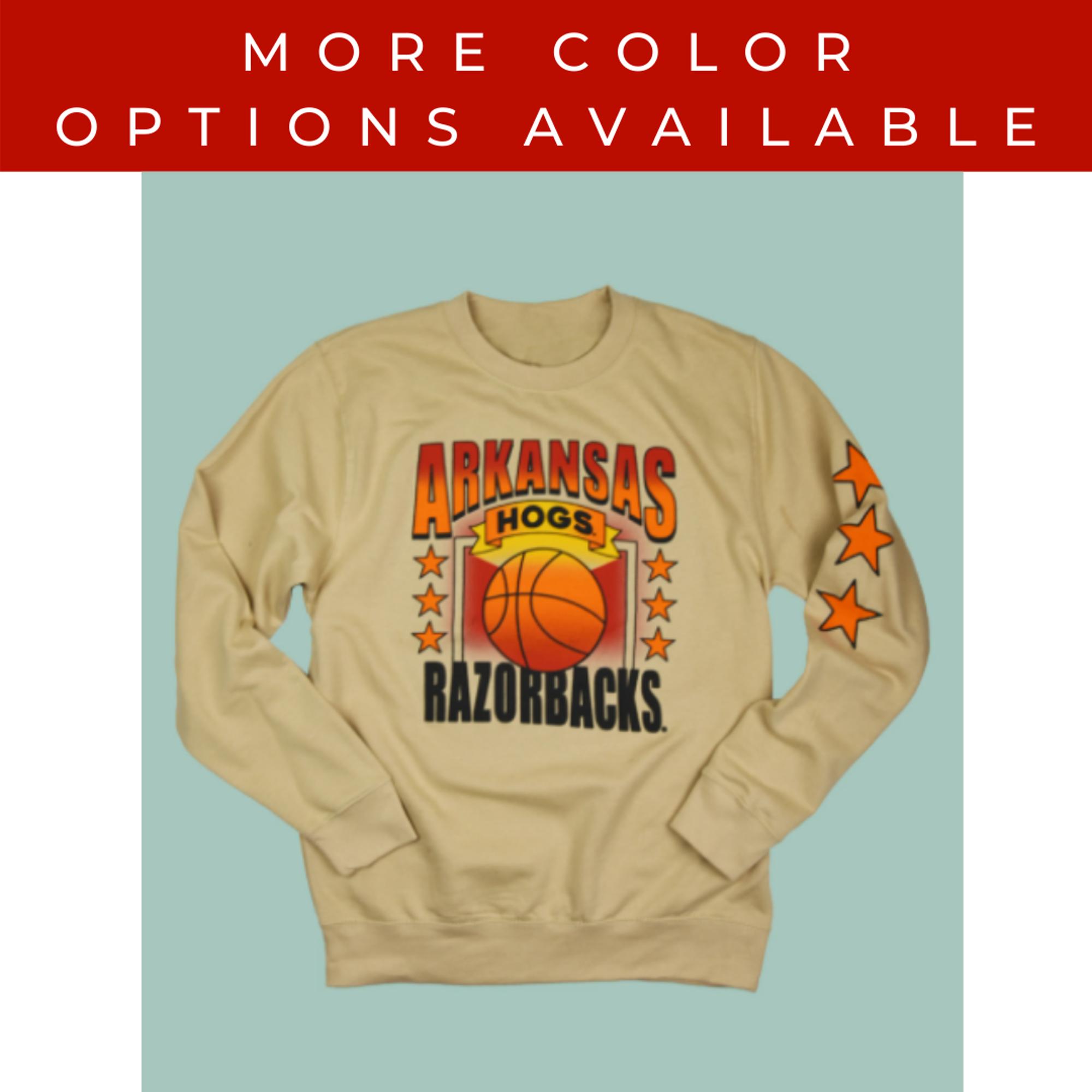 image of: Arkansas Razorbacks Arkadia Basketball Crew Sweatshirt