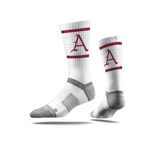 Arkansas Scripted Letter Strideline Crew Sock