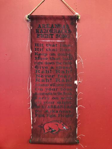 Arkansas Razorbacks Fight Song Banner