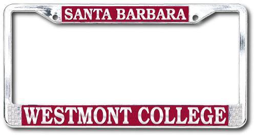 Westmont Santa Barbara License Plate Frame