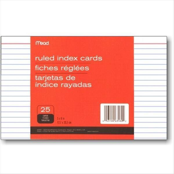 """Mead Ruled 5"""" x 8"""" Index Cards"""