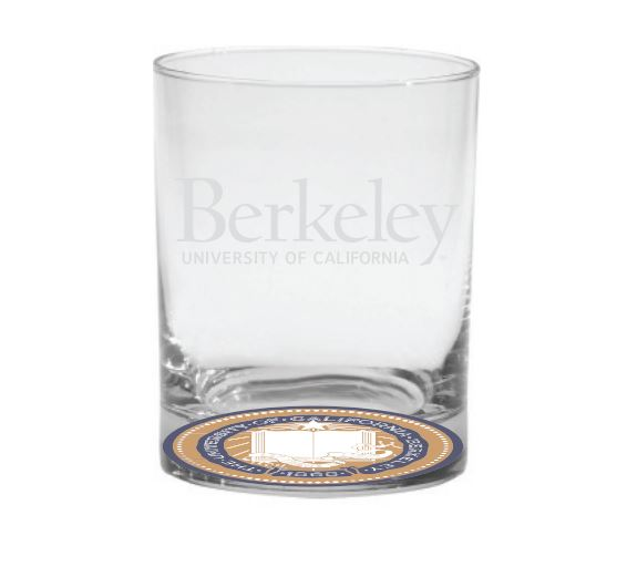 Image for 14oz Old Fashioned Glass Berkeley Logo