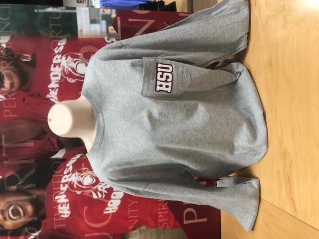 image of: HSU Glitter Pocket Long Sleeve Tee