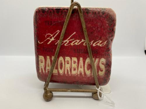Arkansas Razorbacks Legacy Ceramic Coaster Set 4ct with Stand
