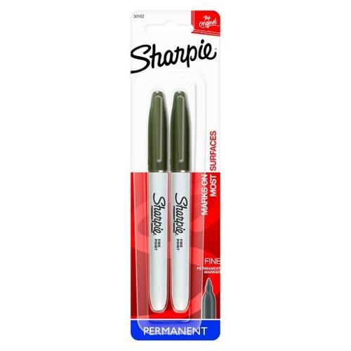 Sharpie Permanent Marker - Black Fine 2Pk BP