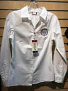 Image for the Ladies White Fitted LS Button-Up product