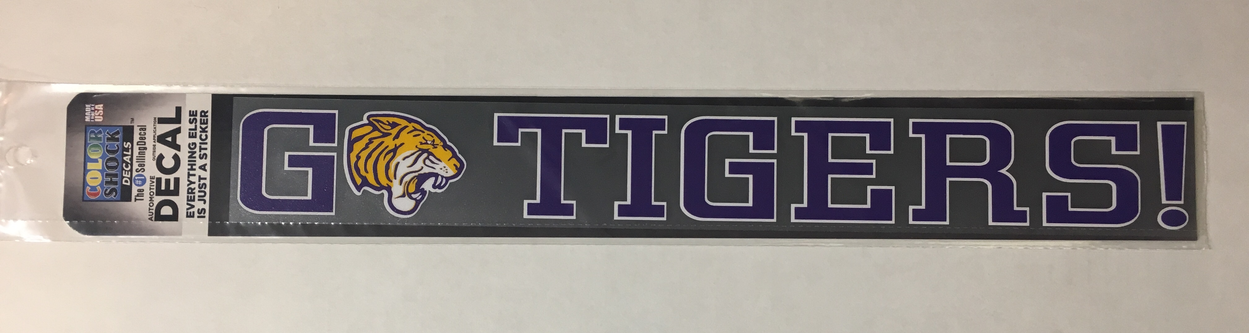 image of: Go Tigers Decal Strip