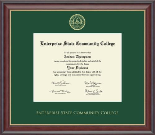 Gold Embossed Studio Gold Green Matting ESCC Diploma Frame