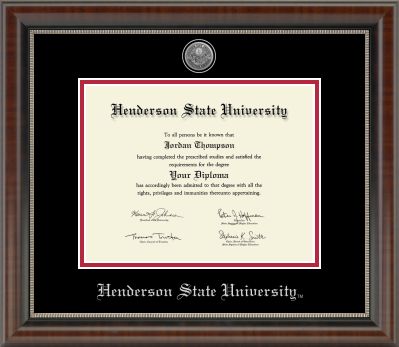 image of: Medallion Engraved Silver Chateau Diploma Frame