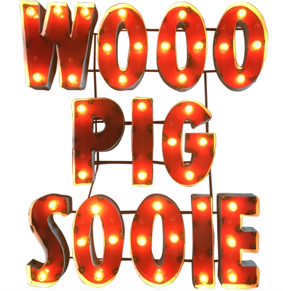 Arkansas Razorbacks Wooo Pig Sooie Recycled Metal Wall Decor