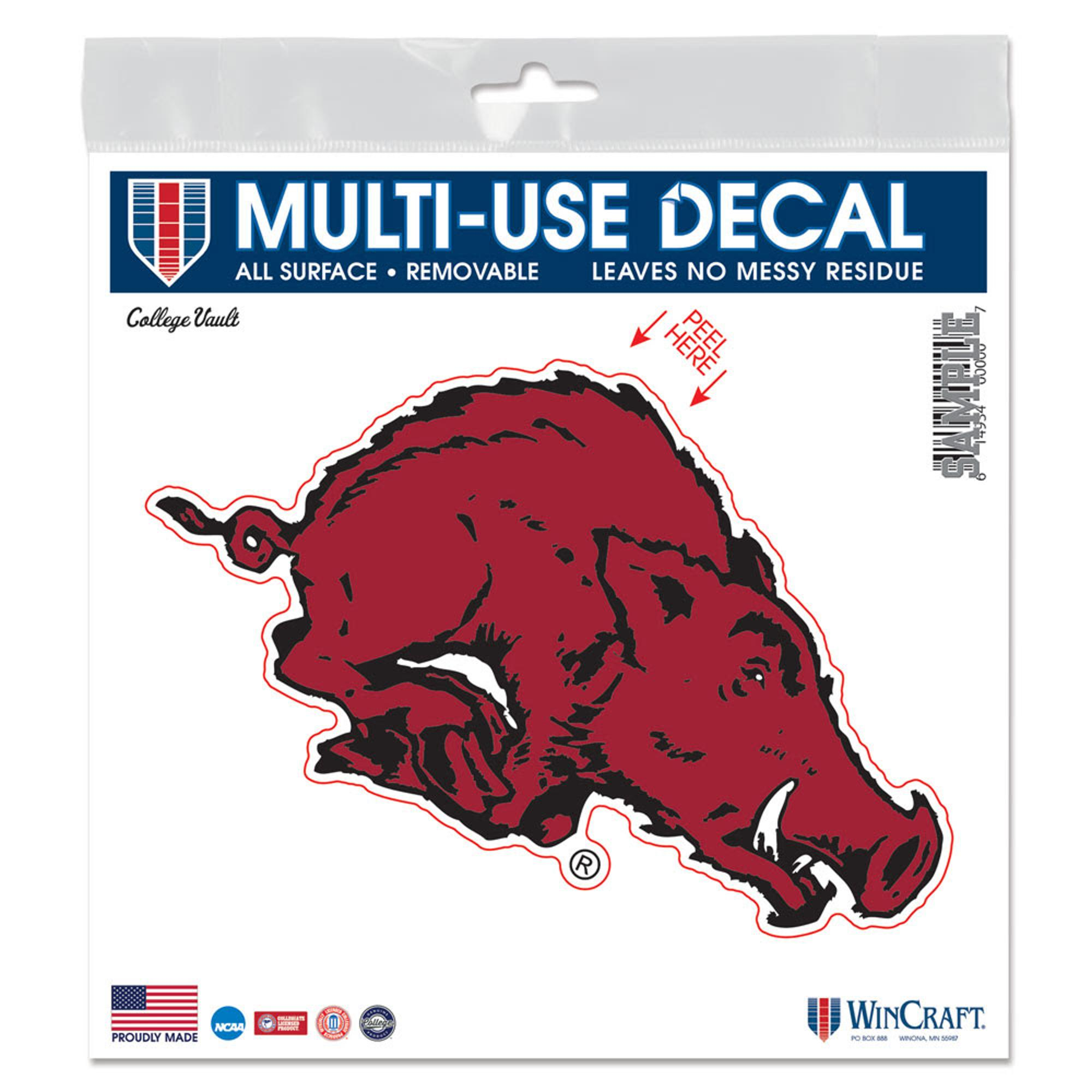 Image for Arkansas Razorbacks Wincraft Vintage All Surface Decal