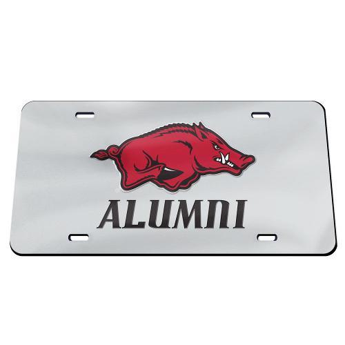 Arkansas Razorbacks Alumni WinCraft Logo Crystal Mirror License Plate