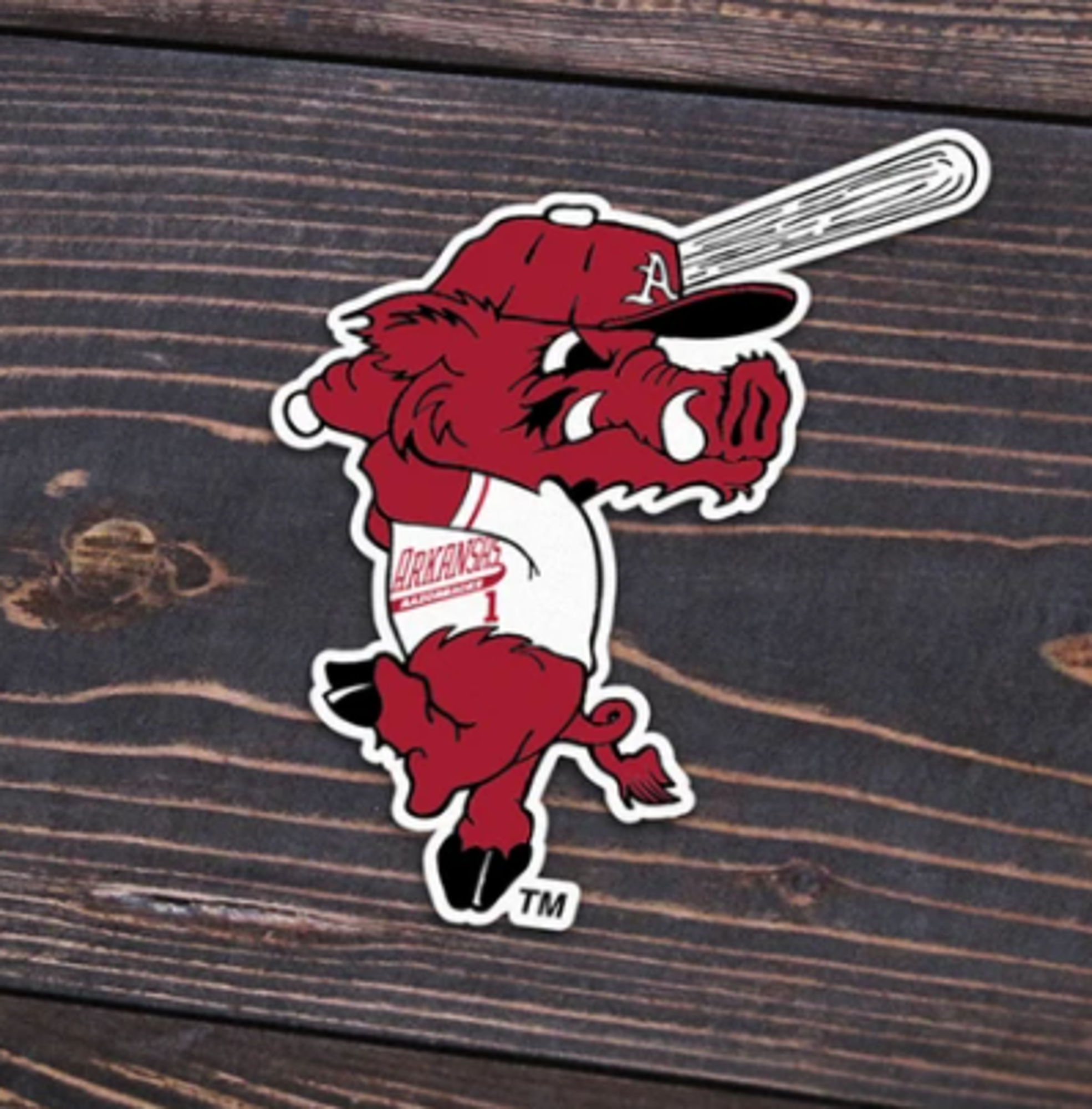 image of: Arkansas Razorbacks Ribby Sticker