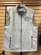 Image for the MENS Part Sweater-Part Fleece Vest Gray product