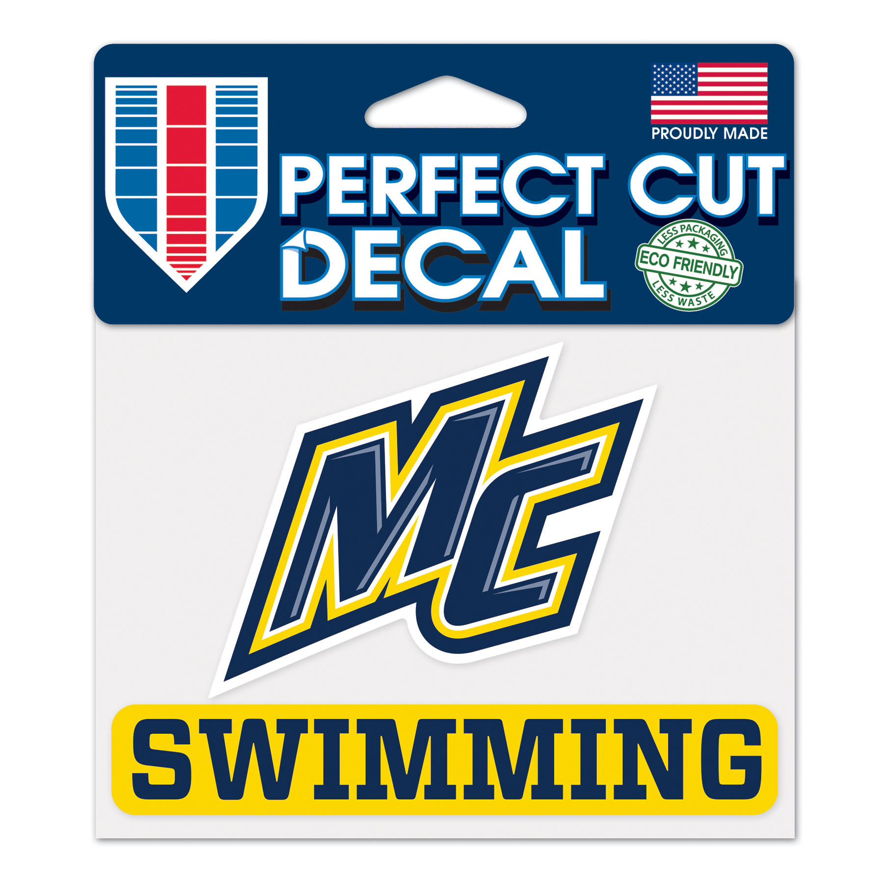 NEW FONT SWIMMING DECAL