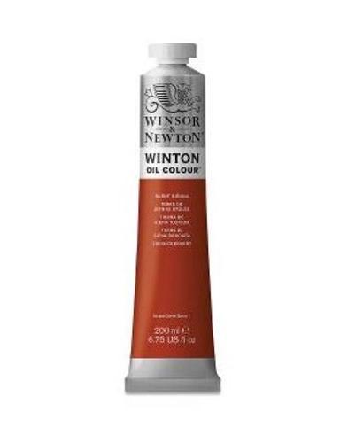 Winsor & Newton Winton Oil Colour Paint, 37ml tube, Burnt Sienna