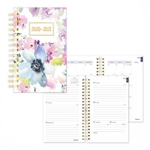 Academic Weekly Planner 2020-2021 Floral Watercolor