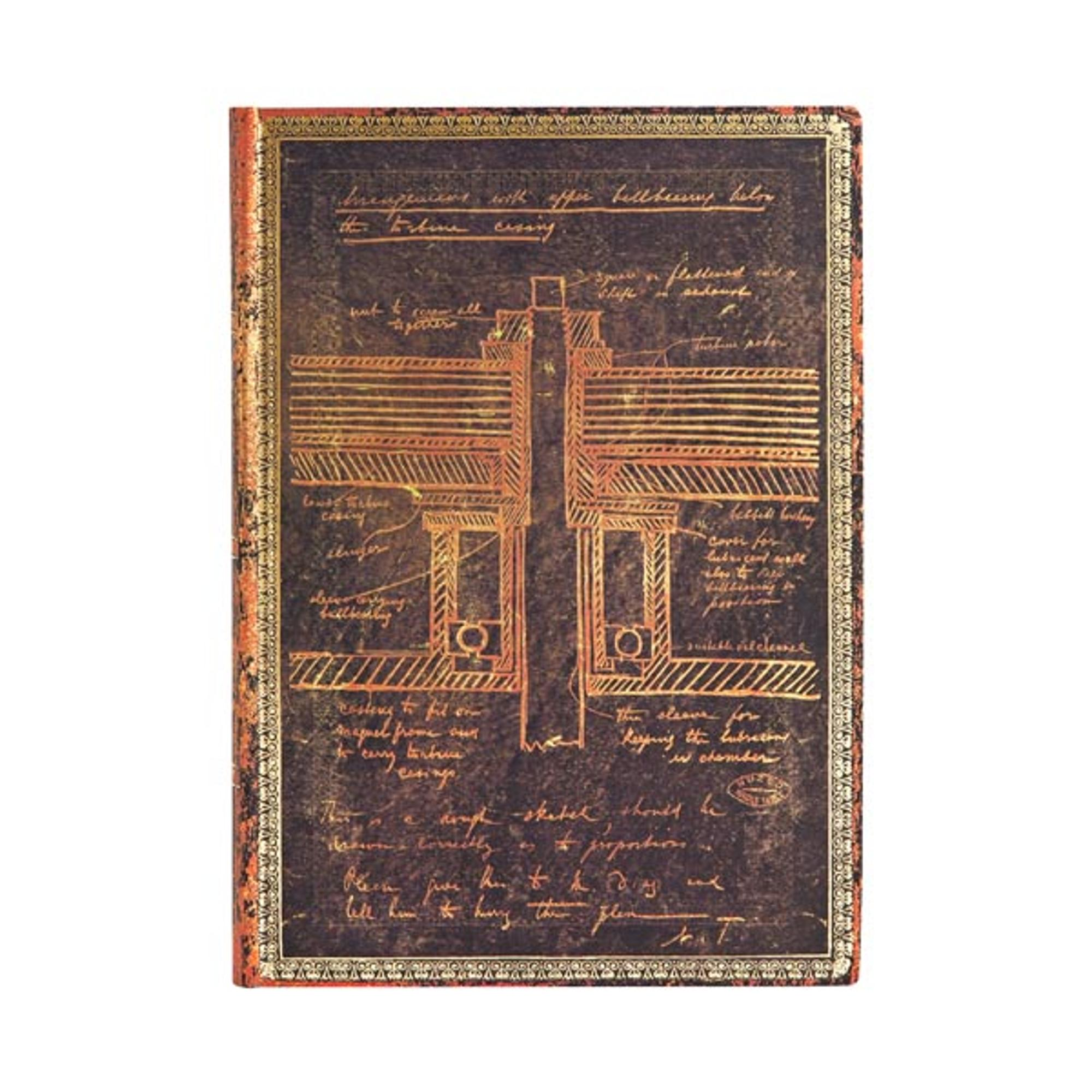 image of: paperblanks Flexis Sketch of a Turbine