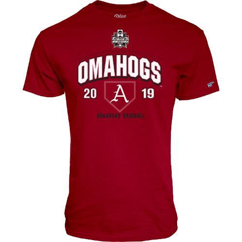 Arkansas Razorbacks Blue 84 Branded Omahogs 2019 Short Sleeve Tee - Cardinal