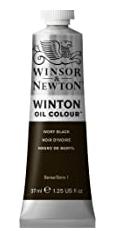 image of: Winsor & Newton Winton Oil Colour Paint, 37ml tube, Ivory Black