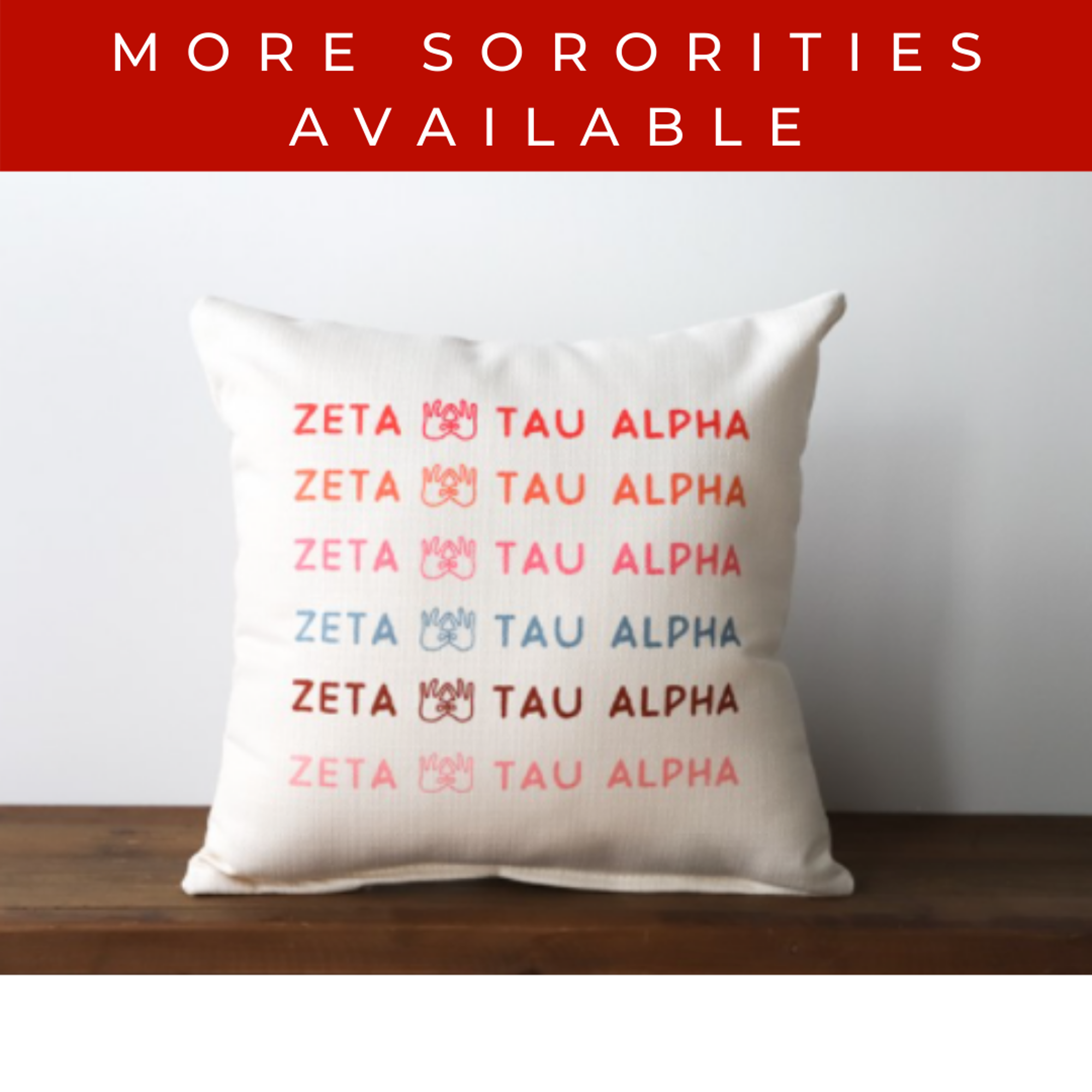 image of: Sorority Hand Sign Pillow