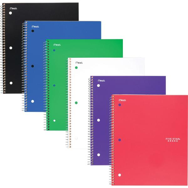 1 Subject Spiral Notebook (Wide Ruled)
