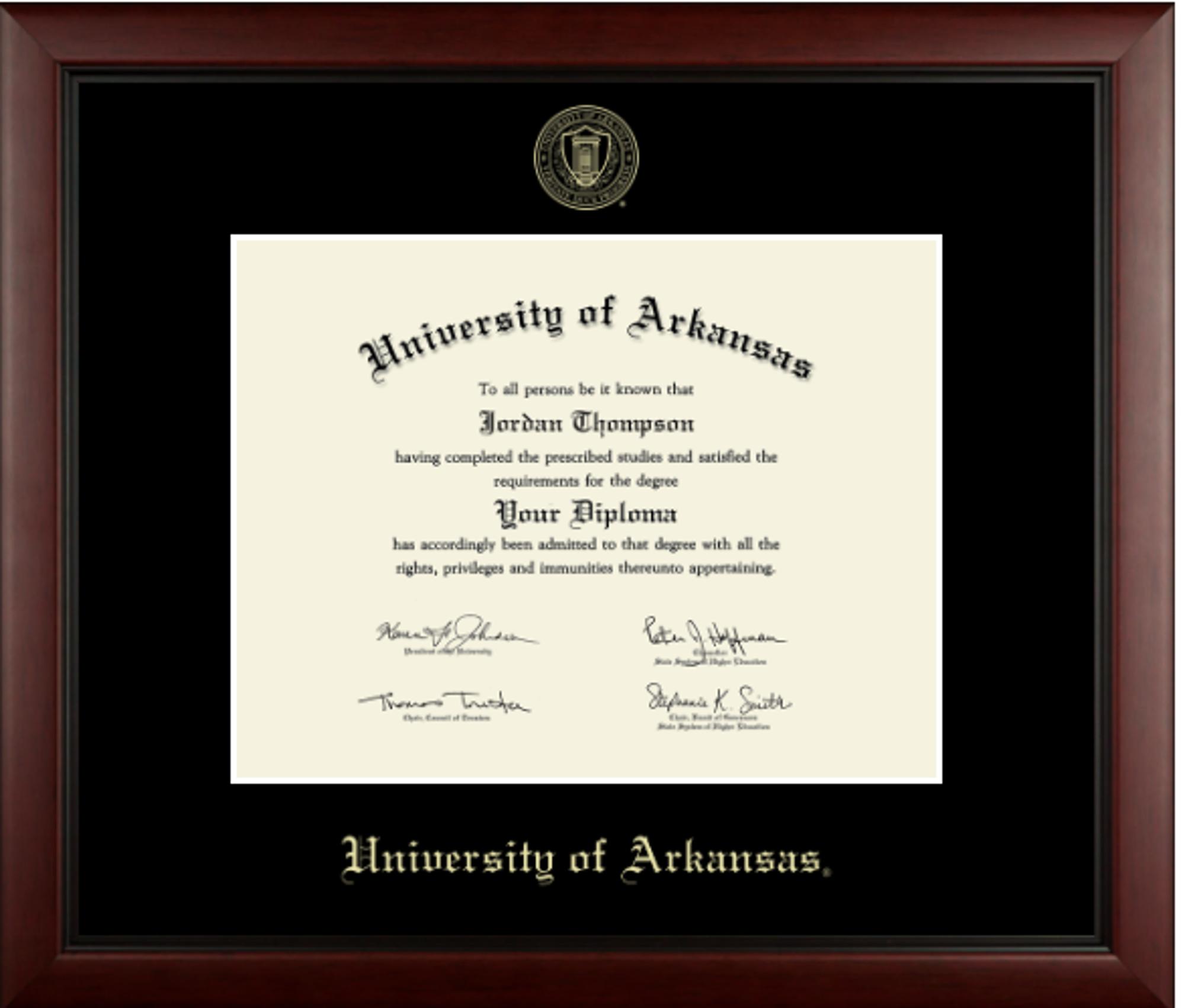image of: Church Hill Diploma Frame: Black Mat