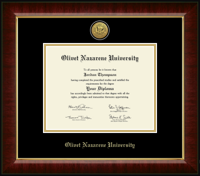 image of: Gold Engraved Medallion Diploma Frame