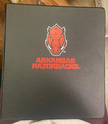 "Arkansas Razorbacks Front Facing Hod 1"" Binder - Black"