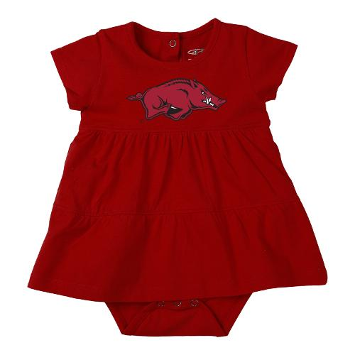 Arkansas Razorbacks Infant Onesie Dress - Red