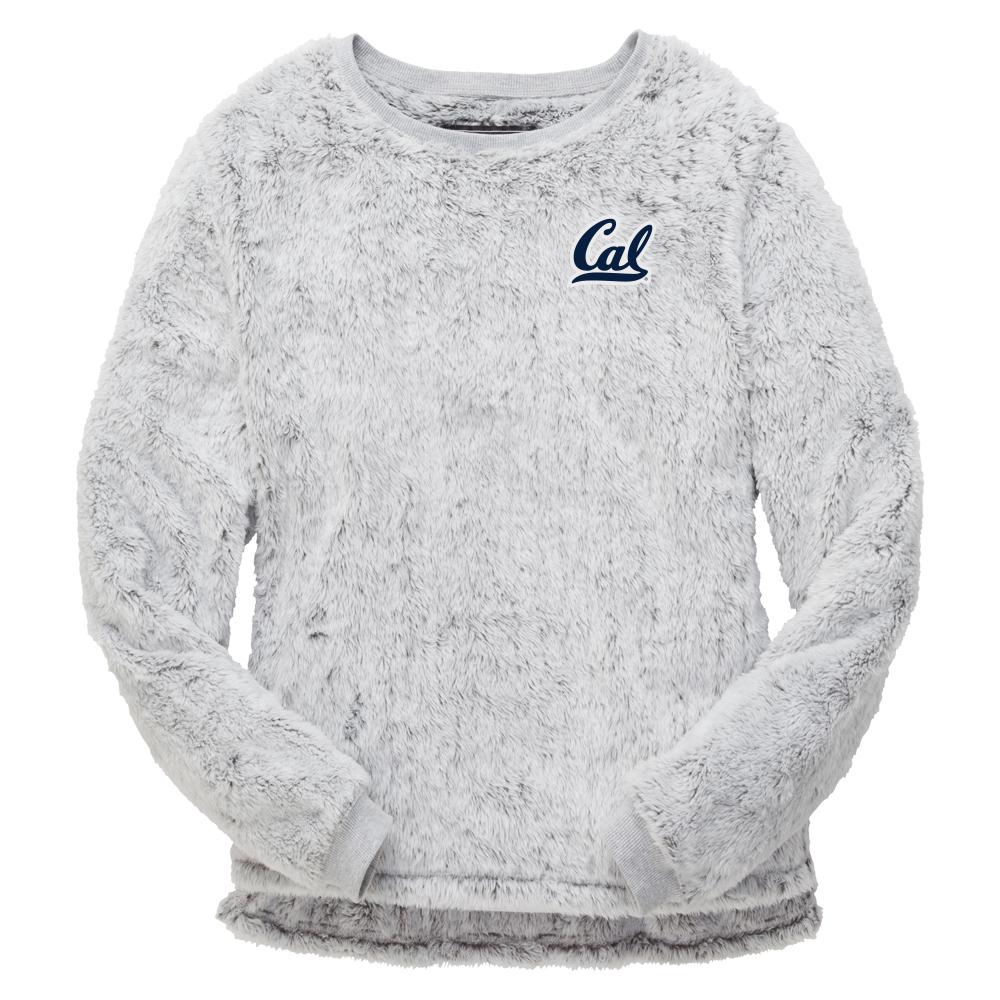 W Fuzzy Fleece Crew Cal Logo