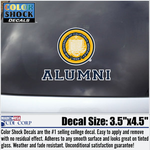 UC Berkeley Seal Over Alumni Decal