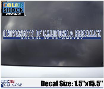 Color Shock Decal School of Optometry