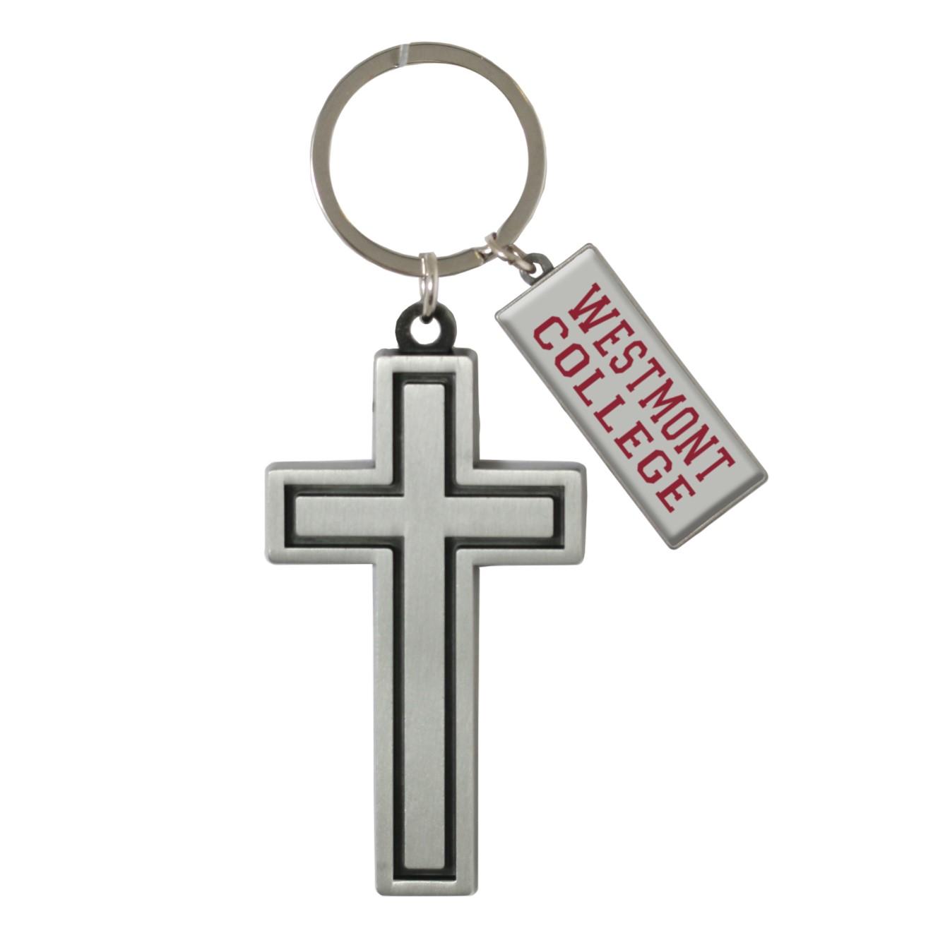 image of: Spirit Westmont College Cross Key Tag Key Ring