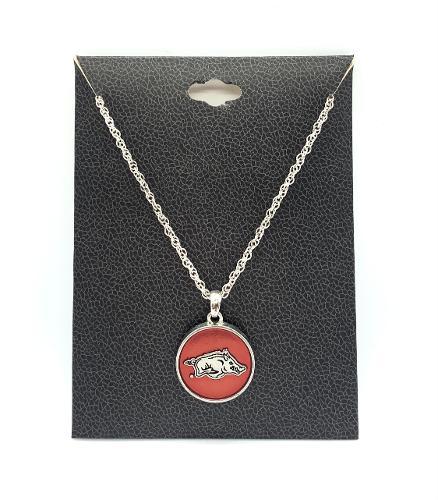 Razorback Charm Necklace