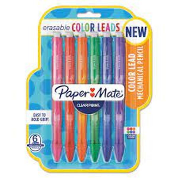 Paper Mate Erasable Color Lead Mechanical Pencils